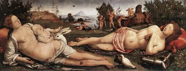 Piero di Cosimo Venus Mars and Cupid 1490